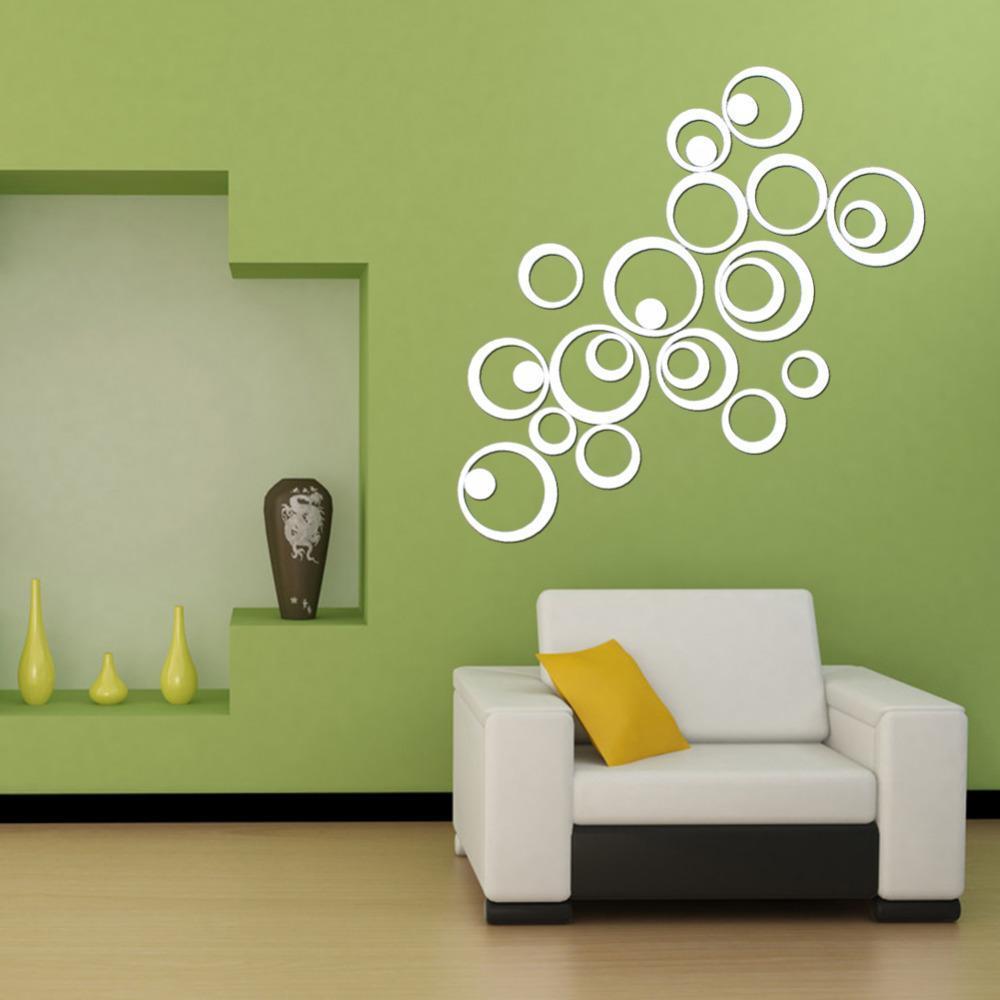 Декор на стену зеркальные наклейки на
